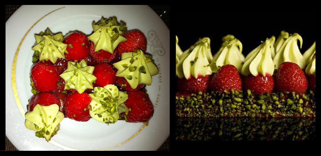 Gateau pistache fraise michalak